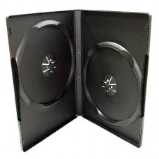 Футляр на 2 DVD (slim) 9 мм, глянцевый, черный