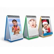 Календарь настольный с цветной подставкой из картона (10x15 см, 200 гр, 13 листов)