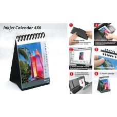 Календарь настольный с черной подставкой из бумаги (10x15 см, 200 гр, 13 листов)
