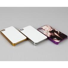 Чехол для iPhone 4/4S зеркальный с пластиной для сублимации: золотой, серебристый, цветной