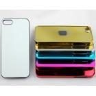 Чехол для iPhone 5 зеркальный с пластиной для сублимации: золотой, серебристый, цветной