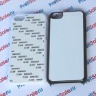 Чехол для iPhone 5C пластиковый с пластиной для сублимации: белый, черный