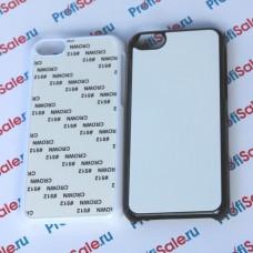 Чехол для iPhone 5C пластиковый с пластиной для сублимации. Цвет: белый, черный