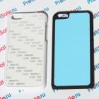 Чехол для iPhone 5C с покрытием Soft Touch (шелк) пластиковый с пластиной для сублимации: белый, черный