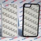 Чехол для iPhone 6 прорезиненный с пластиной для сублимации: белый, черный, прозрачный
