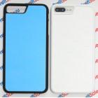 Чехол для iPhone 7 plus/8 plus с покрытием Soft Touch (шелк) пластиковый с пластиной для сублимации: белый, черный