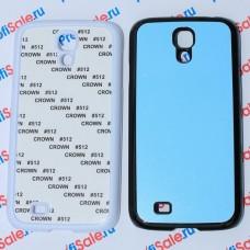 Чехол для Samsung Galaxy S4 пластиковый с пластиной для сублимации. Цвет: белый, черный, прозрачный, красный, оранжевый, розовый, салатовый, голубой