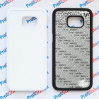 Чехол для Samsung S7 edge с покрытием Soft Touch (шелк) пластиковый с пластиной для сублимации: белый, черный