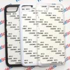 Чехол для iPhone 7 и iPhone 8 пластиковый с пластиной для сублимации: белый, черный, прозрачный