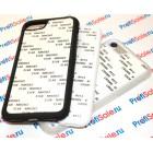 Чехол для iPhone 7 и iPhone 8 прорезиненный с пластиной для сублимации: белый, черный, прозрачный