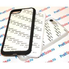 Чехол для iPhone 7/7S прорезиненный с пластиной для сублимации: белый, черный, прозрачный