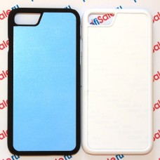 Чехол для iPhone 7 и iPhone 8 с покрытием Soft Touch (шелк) пластиковый с пластиной для сублимации: белый, черный