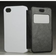 Чехол-книжка для iPhone 4/4S, 3D, сублимационный, подходит для вакуумной машины: белый, черный, цветной