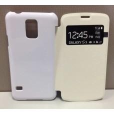 Чехол-книжка для Samsung Galaxy S5, 3D, сублимационный, подходит для вакуумной машины: белый, черный, цветной