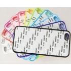 Чехол для iPhone 5/5S прорезиненный с пластиной для сублимации: белый, черный, прозрачный