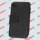 Чехол-книжка для iPhone 4/4S с белым полем, черный