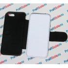 Чехол-книжка для iPhone 5/5S с белым полем, черный