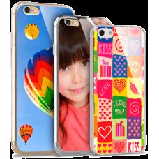 Чехол мягкий для iPhone 5/5S под полиграфическую вставку, прозрачный с фотобумагой 2 шт.