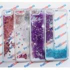 Чехол-переливашка пластиковый для iPhone 6 plus под полиграфическую вставку, прозрачный с блестками