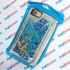 Чехол-переливашка пластиковый для iPhone iPhone 7 и iPhone 8 под полиграфическую вставку, прозрачный с блестками