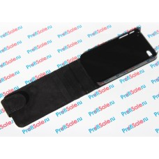Чехол-раскладушка для iPhone 4/4S с белым полем для сублимации, черный