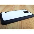 Чехол для Samsung S5 прорезиненный с пластиной для сублимации: белый, черный, прозрачный, цветной