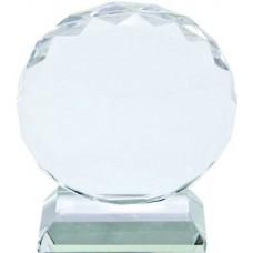 """Фотокристалл """"Круг"""" диаметром 8 см, на подставке"""