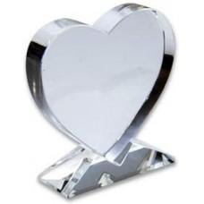 """Фотокристалл """"Сердце"""" (10х8х2 см), на подставке"""