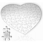 Пазл для сублимации в форме сердца, 75 элементов