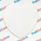 Магнит виниловый в форме сердца 95 мм для сублимации, 5 штук в упаковке