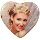 Плитка керамическая в виде сердца, 11 см