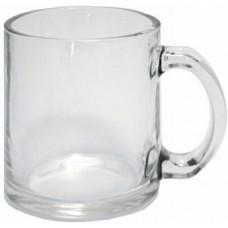 Кружка стеклянная прозрачная, для сублимации