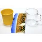 Пластиковая фотокружка для вставки изображения. Пищевой пластик, цвет вставки: красный, желтый, зеленый, синий