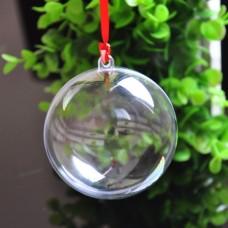 Ёлочный шар под полиграфическую вставку, 8 см