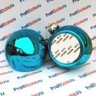 Елочный шар стеклянный с пластиной для сублимации, голубой