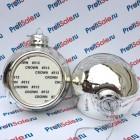Елочный шар стеклянный с пластиной для сублимации, серебристый