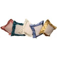 Подушка для сублимации 46х46 см, с квадратным материалом под нанесение, на пуговицах. Цвет: бордовый, бронзовый, голубой, золотой, изумрудный, красный, персиковый, салатовый, светло-сиреневый, серебряный, темно-синий, фиолетовый