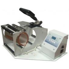 Термопресс для кружек горизонтальный с двумя насадками