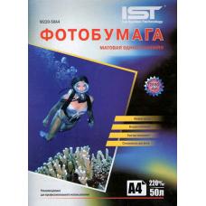 Фотобумага матовая односторонняя IST M220-100A4 (A4, 210x297 см, 220 г/кв.м, 100 листов)