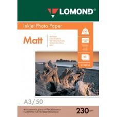 Фотобумага матовая односторонняя Lоmond 0102156 (A3, 230 г/кв.м, 50 листов)