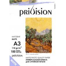 Фотобумага матовая односторонняя Privision (A3, 110 г/кв.м, 100 листов)
