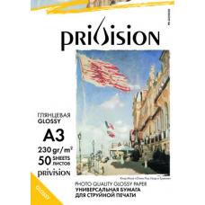 Фотобумага глянцевая односторонняя Privision (A3, 230 г/кв.м, 50 листов)