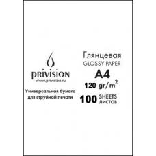 Фотобумага глянцевая односторонняя в экономичной упаковке Privision (A4, 120 г/кв.м, 100 листов)