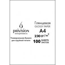 Фотобумага глянцевая односторонняя в экономичной упаковке Privision (A4, 230 г/кв.м, 100 листов)