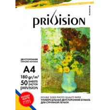 Фотобумага глянцевая/матовая двусторонняя Privision (A4, 180 г/кв.м, 50 листов)
