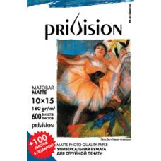 Фотобумага матовая Privision (10x15 см, 180 г/кв.м, 600 листов)