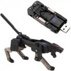 """Накопитель USB flash 64ГБ ProfiSale.ru """"Пантера - трансформер"""", серебристо-черный (USB2.0)"""