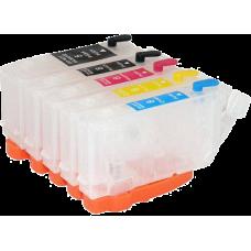 Перезаправляемые картриджи RDMPGI-5Bk, CLI-8Bk/C/M/Y для Canon PIXMA iP4200, iP4300, iP5200, iP5300, MP500, MP600, MP800 (без чипов)