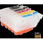 Перезаправляемые картриджи RDM PGI-5Bk, CLI-8Bk/C/M/Y для Canon PIXMA iP4200, iP4300, iP5200, iP5300, MP500, MP600, MP800 (с чипами)