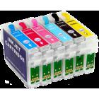 Перезаправляемые картриджи T0821-Т0826 для Epson Stylus Photo R270, R290, R295, R390, RX590, RX610, RX615, RX690, Т50, Т59, 1410, TX650, TX659, TX700, TX710, TX800, TX810 (авточипы)